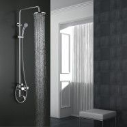 Modern Style Shower head & Bathtub Faucet - Brass with Chrome Finish (8229)