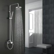 Modern Style Shower Head - Brass with Chrome Finish (9460)