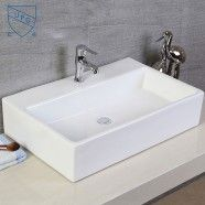 Decoraport White Rectangle Ceramic Above Counter Basin (CL-1099)
