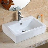 Decoraport Rectangle Ceramic Above Counter Basin (CL-1179)