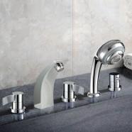 Decoraport Modern Style 5-piece Brass Bathtub Faucet (YDL-2508A)