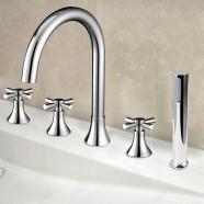 Decoraport Modern Style 5-piece Brass Bathtub Faucet (YDL-2506A)