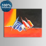 100% Hand Painted Abstract Still-Life Oil Painting (DK-JX-YH013)