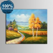100% Hand Painted Abstract Landscape Oil Painting (DK-JX-YH055)