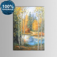 100% Hand Painted Abstract Forest Oil Painting (DK-JX-YH044)