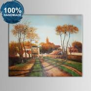 100% Hand Painted Village Landscape Oil Painting (DK-JX-YH041)