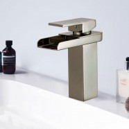 Basin&Sink Waterfall Faucet - Brass in Brushed Nickel (81H39-BN)