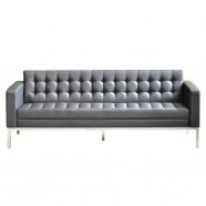 3 Seats Sofa/Mock Leather Reception Guest Seating (SF-014-3)