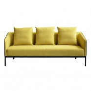 3 Seats Sofa/Reception Guest Seating in Fabric and Mock Leather (SF-506-3)