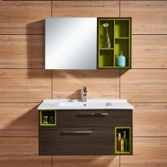 39 In. Wall-Mount Bathroom Vanity Set with Mirror and Side Cabinet (DK-660100)