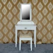 Bedroom Makeup Vanity Set with Mirror and Stool (JI3138W)