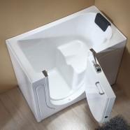 52 x 29 In Walk-in Soaking Bathtub - Acrylic White with Right Drain (DK-Q372-R)