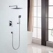 Bathroom Single Handle Tub and Shower Faucet - Brass with Chrome Finish (7561)