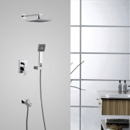 Bathroom Single Handle Tub and Shower Faucet - Brass with Chrome Finish (7563)