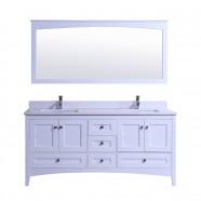 72 In. Freestanding Bathroom Vanity Set with Double Sink and Mirror (DK-T9310-72)