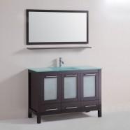 48 In. Freestanding Bathroom Vanity Set with Single Sink and Mirror (DK-T9174-48S)