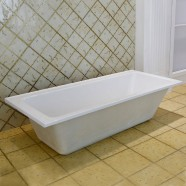 65 In Drop-in Bathtub - Acrylic White (DK-2002-1650L-ET)
