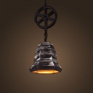 Ceramic Built Black Vintage Pendant Light (DK-2048-D1C)