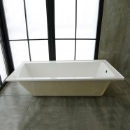 59 In Drop-in Bathtub - Acrylic White (DK-2002-1500R-ET)