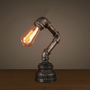 Iron Built Rust Vintage Pipe Table Lamp (DK-6102-T1)