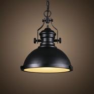 Iron Built Matte Black Vintage Pendant Light (DK-5019-D1A)