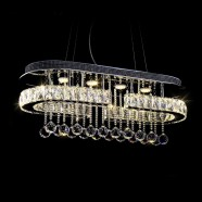Stainless Steel Built Modern LED Crystal Chandelier with Remote Control (DK-LD9020)