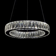 1-Ring Stainless Steel Built Modern LED Crystal Chandelier with Remote Control (DK-LD1050-2)