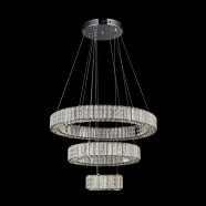 3-Ring Stainless Steel Built Modern LED Crystal Chandelier with Remote Control (DK-LD0818)