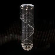 Stainless Steel Built Modern LED Crystal Ceiling Chandelier (DK-LD2038-7)