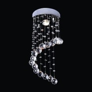 Stainless Steel Built Modern LED Crystal Ceiling Chandelier (DK-LD05006-1)