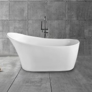 67 In Single Slipper Freestanding Bathtub – Acrylic Pure White (DK-PW-45778)