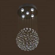 Stainless Steel Built Modern LED Crystal Ceiling Chandelier (DK-LD5011-5)