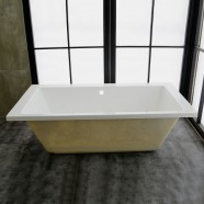 60 In Rectangle Built-in Bathtub – Acrylic Pure White (DK-PW-K55575-ET)