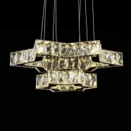 Stainless Steel Built Modern LED Crystal Chandelier with Remote Control (DK-LD06128-2)