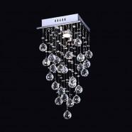 Stainless Steel Built Modern LED Crystal Ceiling Chandelier (DK-LD05007-1)