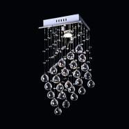 Stainless Steel Built Modern LED Crystal Ceiling Chandelier (DK-LD05008-1)