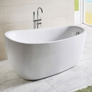 67 In White Acrylic Freestanding Bathtub (DK-Q168)
