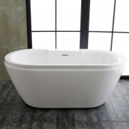60 In Acrylic White Freestanding Bathtub (DK-MEC3061)