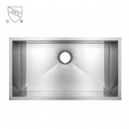 33 x 22 In. Stainless Steel Single Bowl Kitchen Sink (AS3322S-R0)