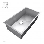 Stainless Steel Single Bowl Kitchen Sink (AS3418-R0)