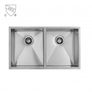 Stainless Steel Double Bowl Kitchen Sink (DK-SC-D3322-R0)