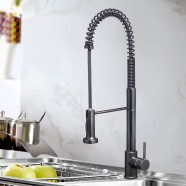 Black Bronze Finished Brass Kitchen Faucet - Pull Out Spray Head (82H07-ORB)