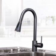 Black Bronze Finished Brass Kitchen Faucet - Pull Out Spray Head (82H14-ORB)