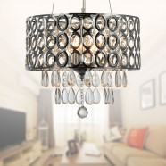 3-Light Modern Crystal Iron Chandelier (DK-RL1189)
