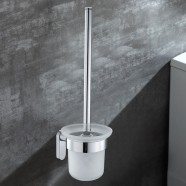Toilet Brush Holder - Chrome Brass (50308)