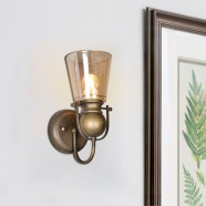 1-Light Copper Iron Wall Sconce with Glass Shades (HKW31252-1)