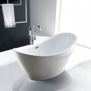 67 In White Acrylic Freestanding Bathtub (DK-SLDYG863)