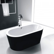 59 In Black Acrylic Freestanding Bathtub (DK-SLDYG858)