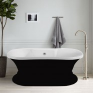 60 In Black Acrylic Freestanding Bathtub (DK-A51601)