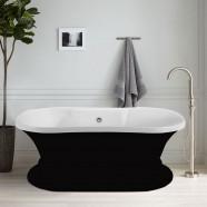 60 In Black Acrylic Freestanding Bathtub (DK-A51601)